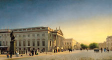 A View of the Opera and Unter den Linden, Berlin, Eduard Gaertner