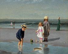 Niños en la playa, Samuel S. Carr