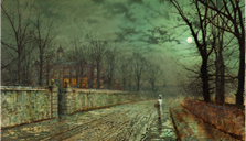 A Moonlit Evening, Atkinson Grimshaw
