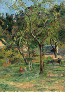 An Orchard under the Church of Bihorel, Paul Gauguin