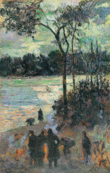 The Fire at the River Bank, Paul Gauguin