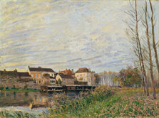 Evening in Moret, End of October, Alfred Sisley