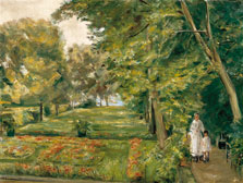The Artist´s Granddaughter with the Governess in the Wannsee Garden, Max Liebermann