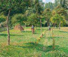 The Orchard at Éragny, Camille Pissarro