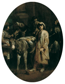 Peasants with Donkeys, Giuseppe Maria Crespi