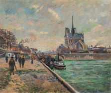 The Bridge of the Archbishop´s Palace and the Apse of Notre-Dame, Paris, Armand Guillaumin