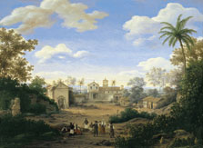 The Church of St. Cosmas and St. Damian and The Franciscan Monastery at Igaraçu, Brazil, Frans Jansz. Post