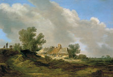 Dune Landscape with Cottage and Figures, Jan Josephsz. van Goyen
