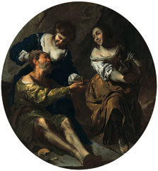 Lot and his Daughters, Bernardo Cavallino