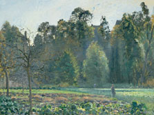 The Cabbage Field, Pontoise, Camille Pissarro