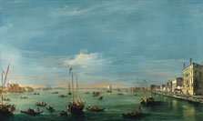 View of the Giudecca Canal and Le Zattere, the Churches of San Biagio and Santa Marta, the Island of San Giorgio in Alga and, in the Distance, the Euganeian Hills, Francesco Guardi