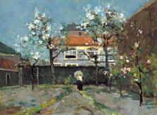 Back Garden at the Kazernestraat, The Hague, Jan Hendrik Weissenbruch