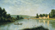 The Seine at the Pont de Sèvres, Stanislas Lépine
