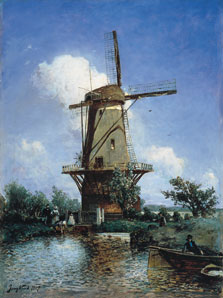 Windmill near Delft, Johann Barthold Jongkind