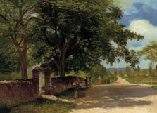 Calle en Nassau, Albert Bierstadt
