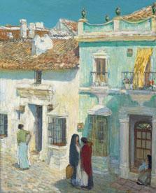 Plaza de la Merced, Ronda, Childe Hassam