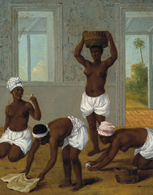 Caribbean Woman in an Interior, San Vincente, Agostino Brunias