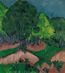 Landscape with Chestnut Tree, Ernst Ludwig Kirchner