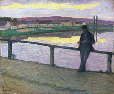 Sunset on Pont-Aven (Young Man in front of the Sea), Henri Lebasque