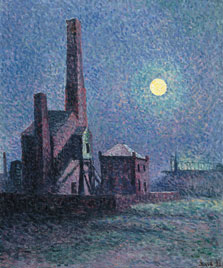 Factory in the Moonlight, Maximilien Luce