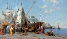 Mercado en Constantinopla, Alberto Pasini