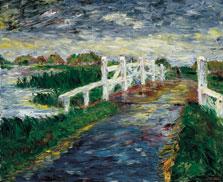 Puente en la marisma, Emil Nolde