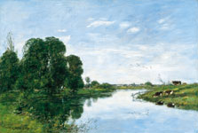 The River Touques at Saint-Arnoult, Eugène Boudin