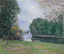 A Turn of the River Loing, Summer, Alfred Sisley