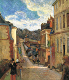 Rue Jouvenet in Rouen, Paul Gauguin