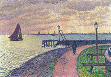 Entrance to the Port of Volendam, Theo Van Rysselberghe