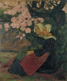 Dos bretonas bajo un manzano en flor, Paul Sérusier