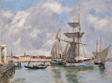 Venice, The Grand Canal, Eugène Boudin