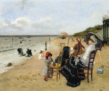 Mother and Daughter on the Beach, Ernest-Ange Duez
