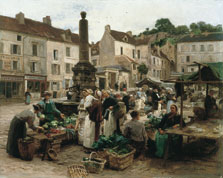 The Market at Château-Thierry, Léon-Augustin Lhermitte
