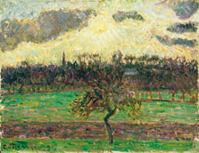 The Meadows at Éragny, Apple Tree, Camille Pissarro
