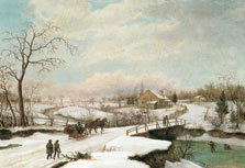 Paisaje invernal en Filadelfia, Thomas Birch