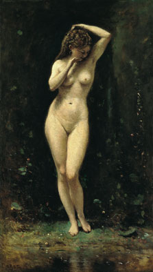 Diana Bathing  (The Fountain), Jean-Baptiste-Camille Corot