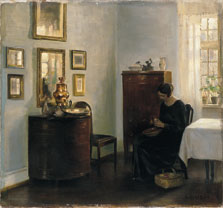 Woman with Fruit Bowl, Carl Holsoe