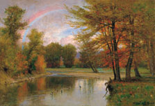 El arco iris, otoño, Catskill, Worthington Whittredge