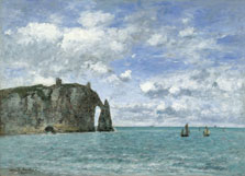 Étretat. The Cliff of Aval, Eugène Boudin