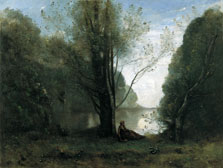 Solitude. Recollection of Vigen, Limousin, Jean-Baptiste-Camille Corot