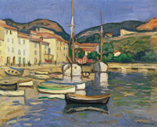 Harbour of Cassis with Two Tartanes, Charles Camoin