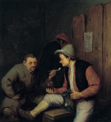 Peasants Smoking and Drinking in a Tavern, Adriaen van Ostade