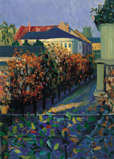 View from her Brother´s House in Bonn, Gabriele Münter