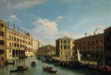 The Grand Canal and the Rialto Bridge, Venice, from the North,  Master Of The Langmatt Foundation Views
