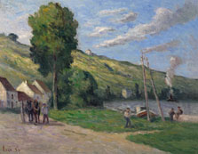 Rolleboise, the Entrance of the Village, Maximilien Luce