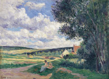 Yonne, the Road to Vermenton, Maximilien Luce