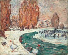 Skaters in Winter (The Garden of the Petit Trianón in Versailles) , Louis Valtat
