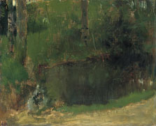 The Pond in the Forest, Edgar Degas