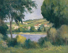 The Outskirts of Rolleboise seen through the Trees, Maximilien Luce